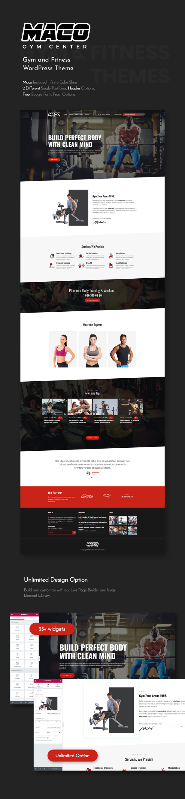 Maco | Gym and Fitness WordPress Theme by themesawesome | ThemeForest