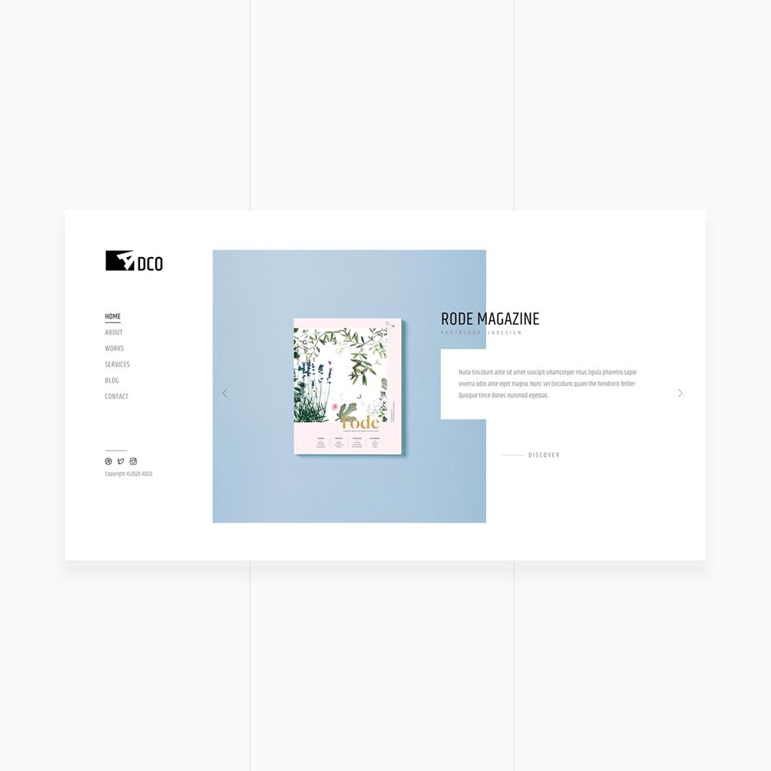 ADCO - Creative Portfolio Agency Template