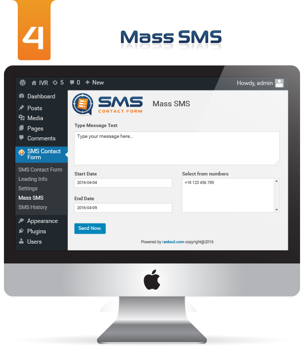 WP SMS Contact Form Settings Image 4