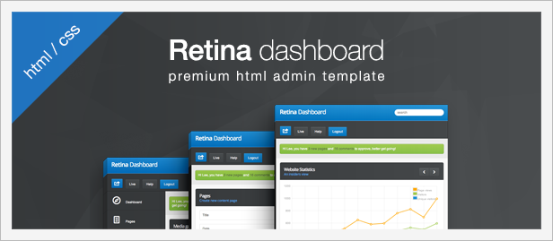 Retina Dashboard - ThemeForest Item for Sale
