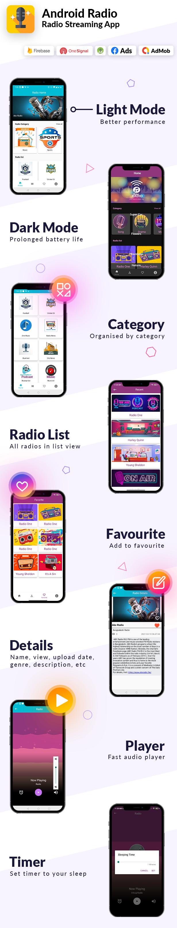 Aplicación de radio Android en línea | Admob, Facebook, Startapp - 4