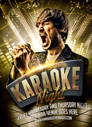 Design Cloud: Karaoke Flyer Template