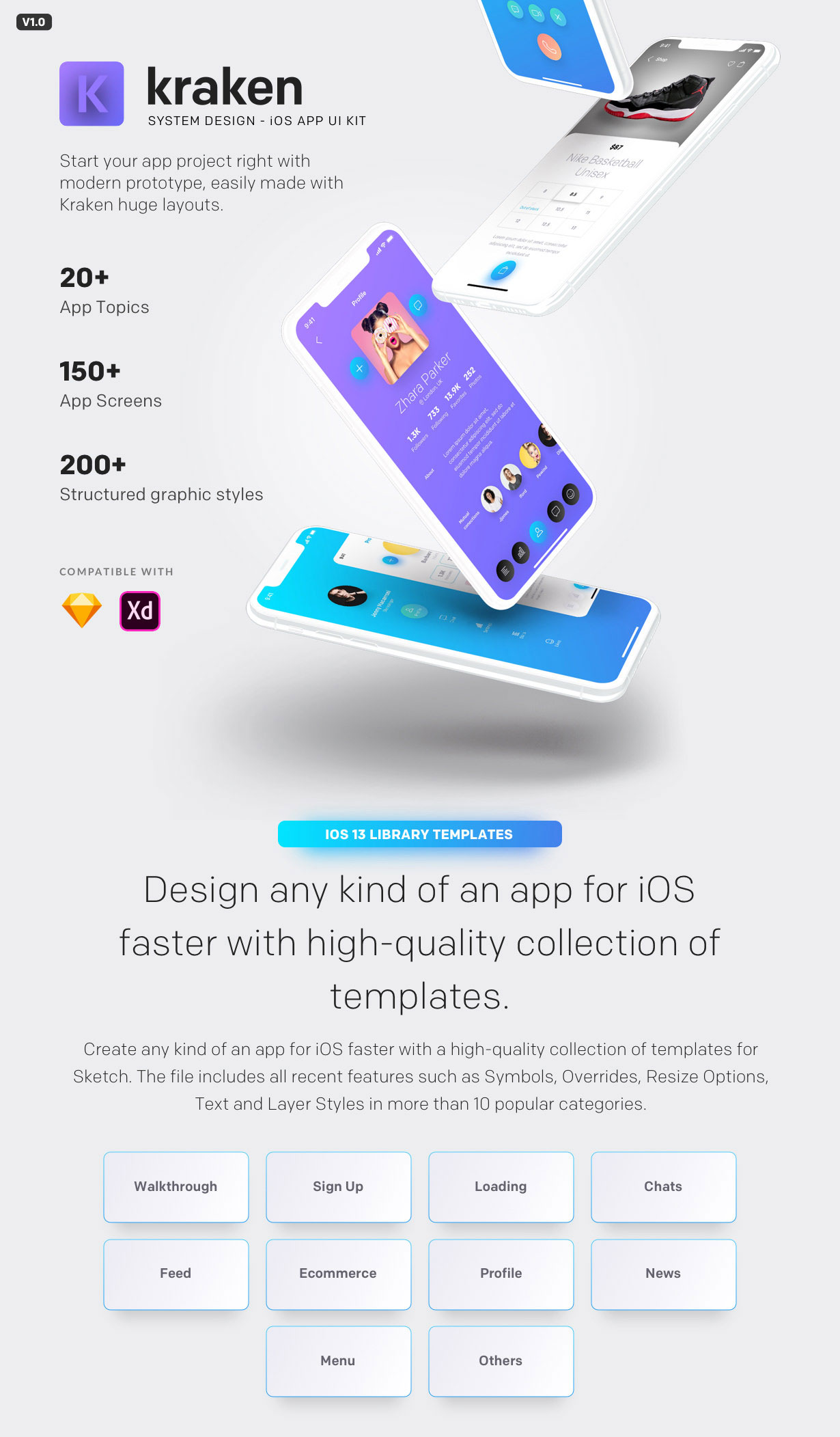 Kraken - iOS App UI Kit