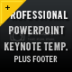 Professional Template With Footer - 4
