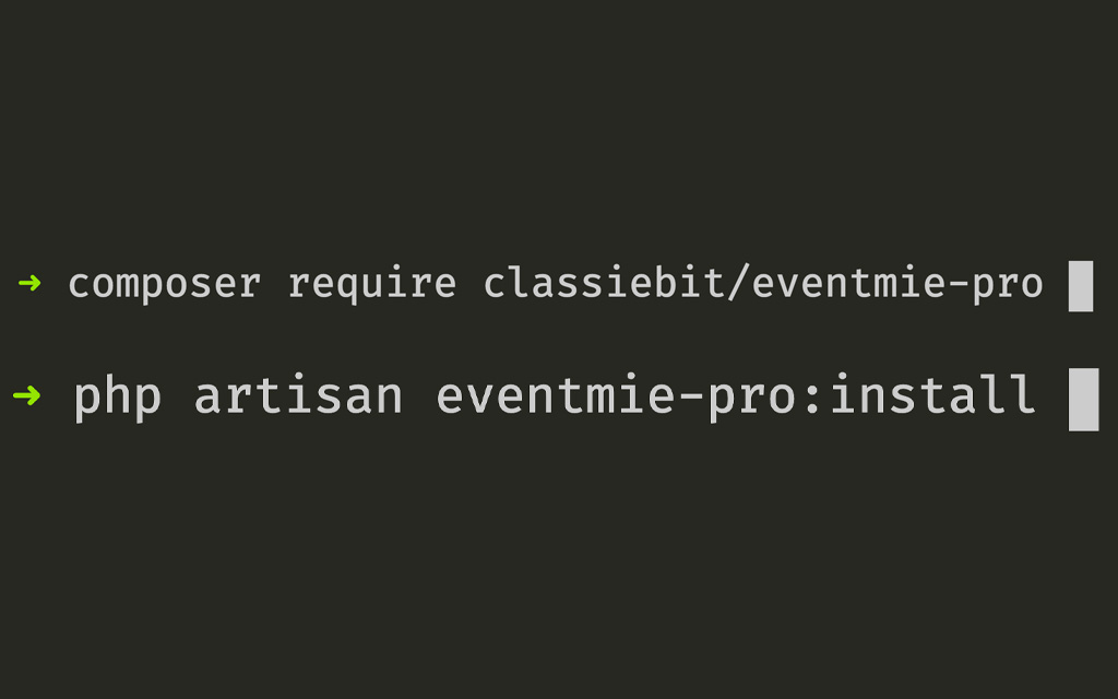 eventmie-Install via Composer