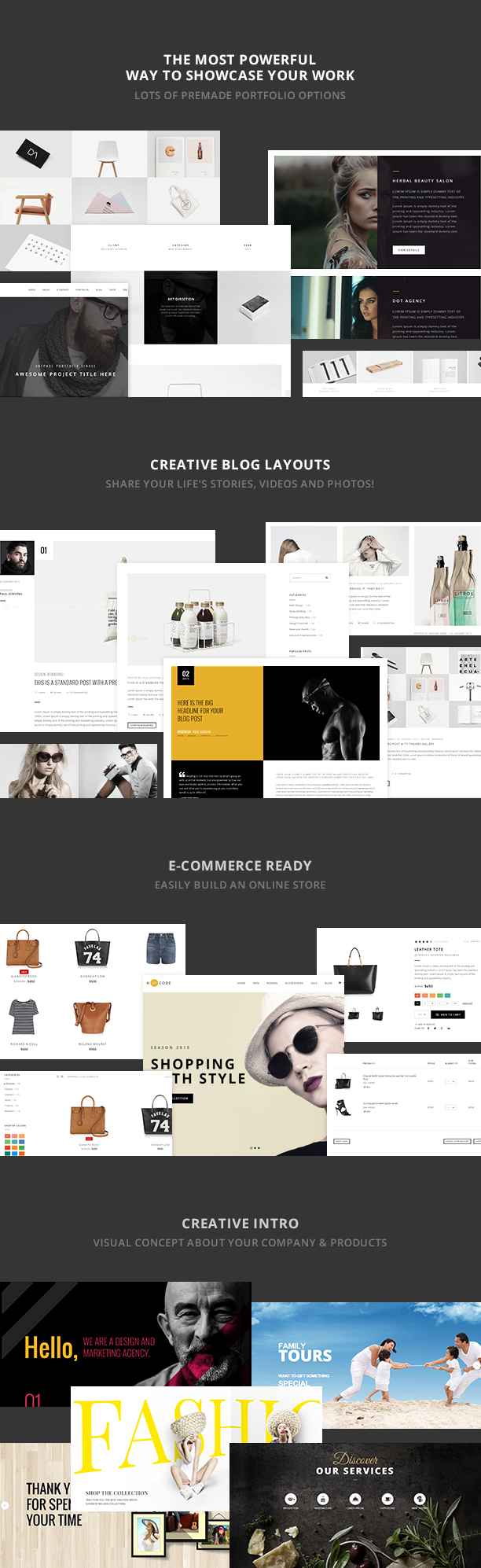 H-Code Multipurpose OnePage & Multi Page Template - 9