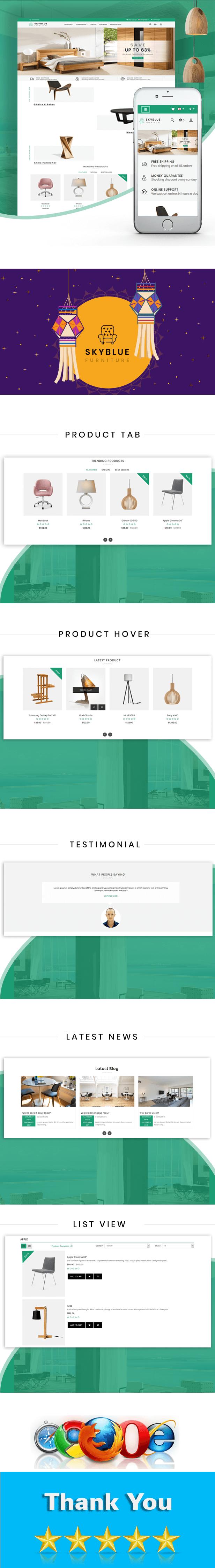 Skyblue Furniture OpenCart 3.x Responsive Theme - 1