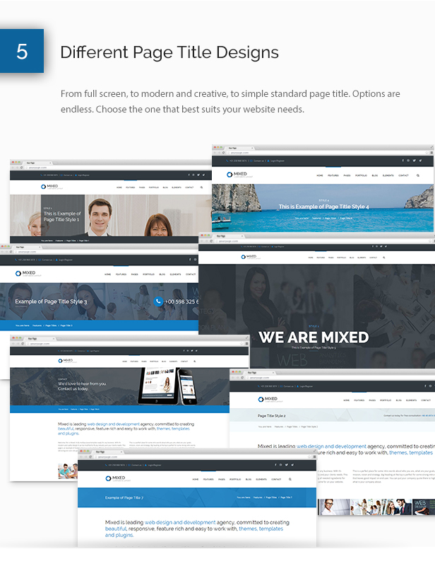 Mixed Modern and Professional HTML Template - 7