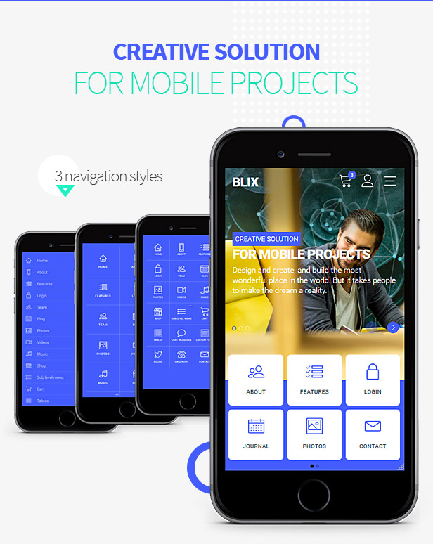 Blix Mobile Template