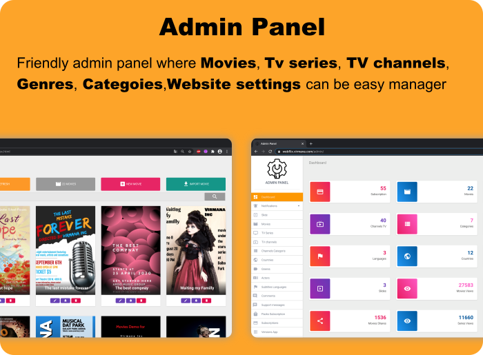 WebFlix - Movies - TV Series - Live TV Channels - Subscription - 11