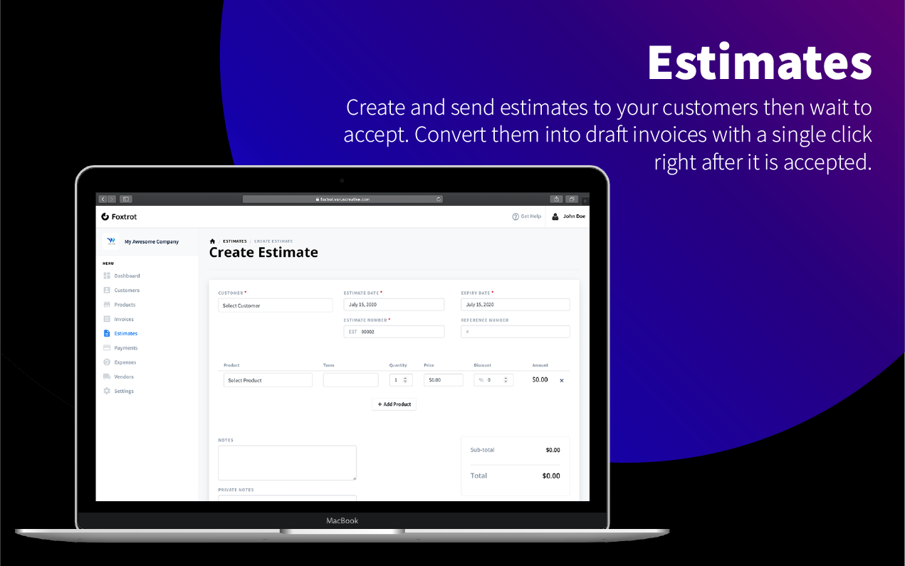 Foxtrot (SaaS) - Customer, Invoice and Expense Management System - 10