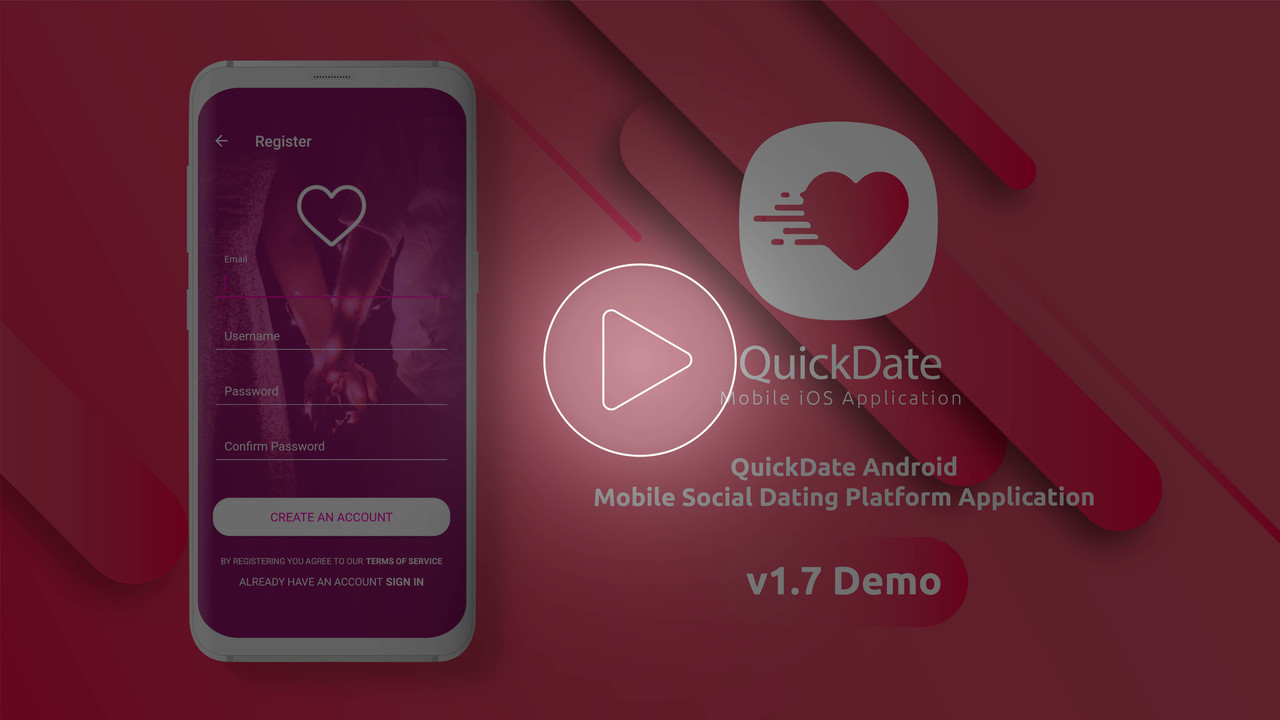 QuickDate Android - Mobile Social Dating Platform Application - 3