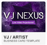 VJ Business Card PSD template