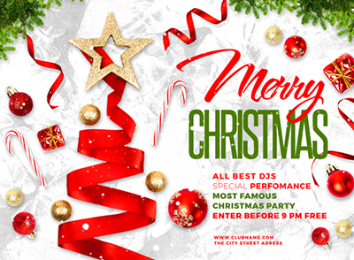 merry christmas flyer by maksn graphicriver