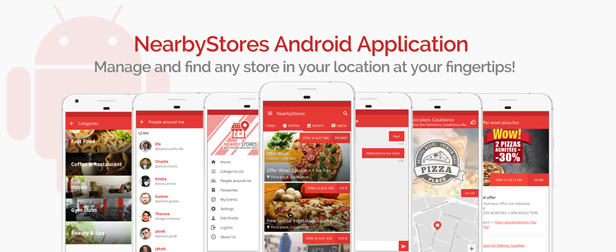 NearbyStores - Offers, Events & Chat Realtime + Firebase 1.8 - 2