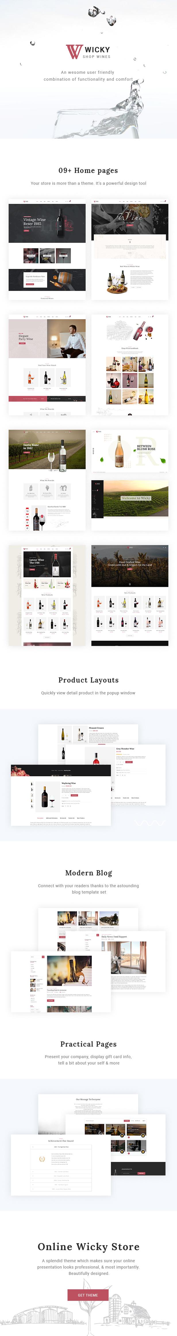 Wicky  Wine Shop WooCommerce Theme - 1