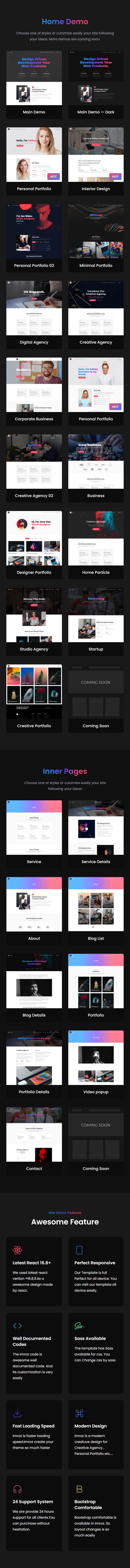 Imroz - React Agency & Portfolio Template - 7