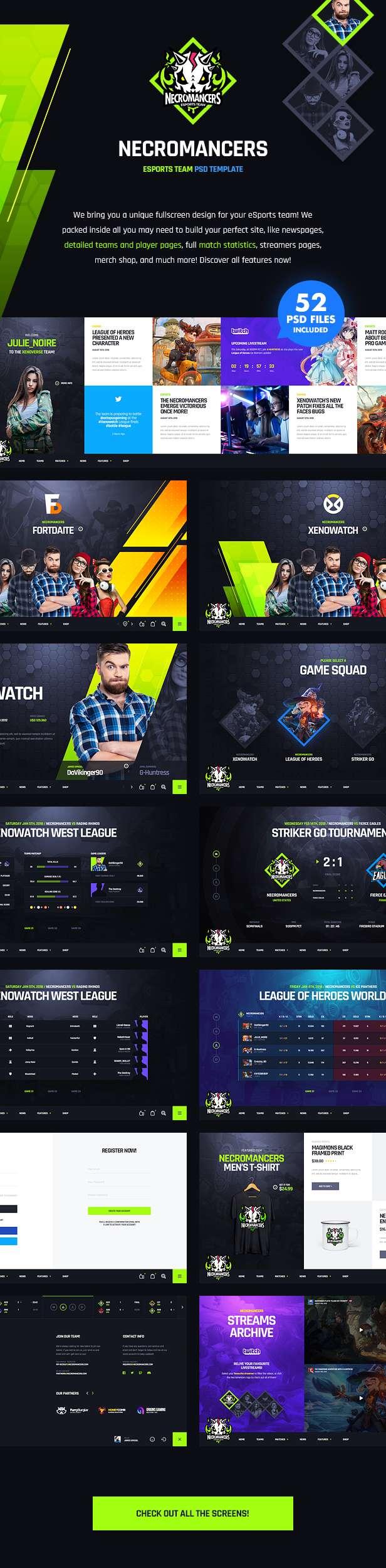 Necromancers - eSports Team PSD Template - 12