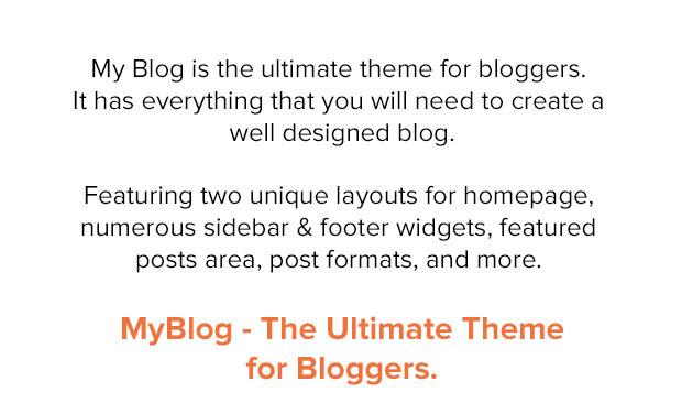 MyBlog - Responsive Blog Magazine Theme - 1