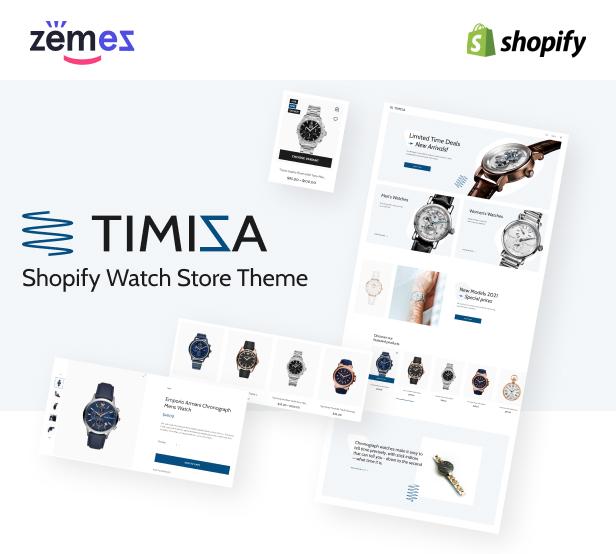 Timiza - Shopify Watch Store Theme - 1