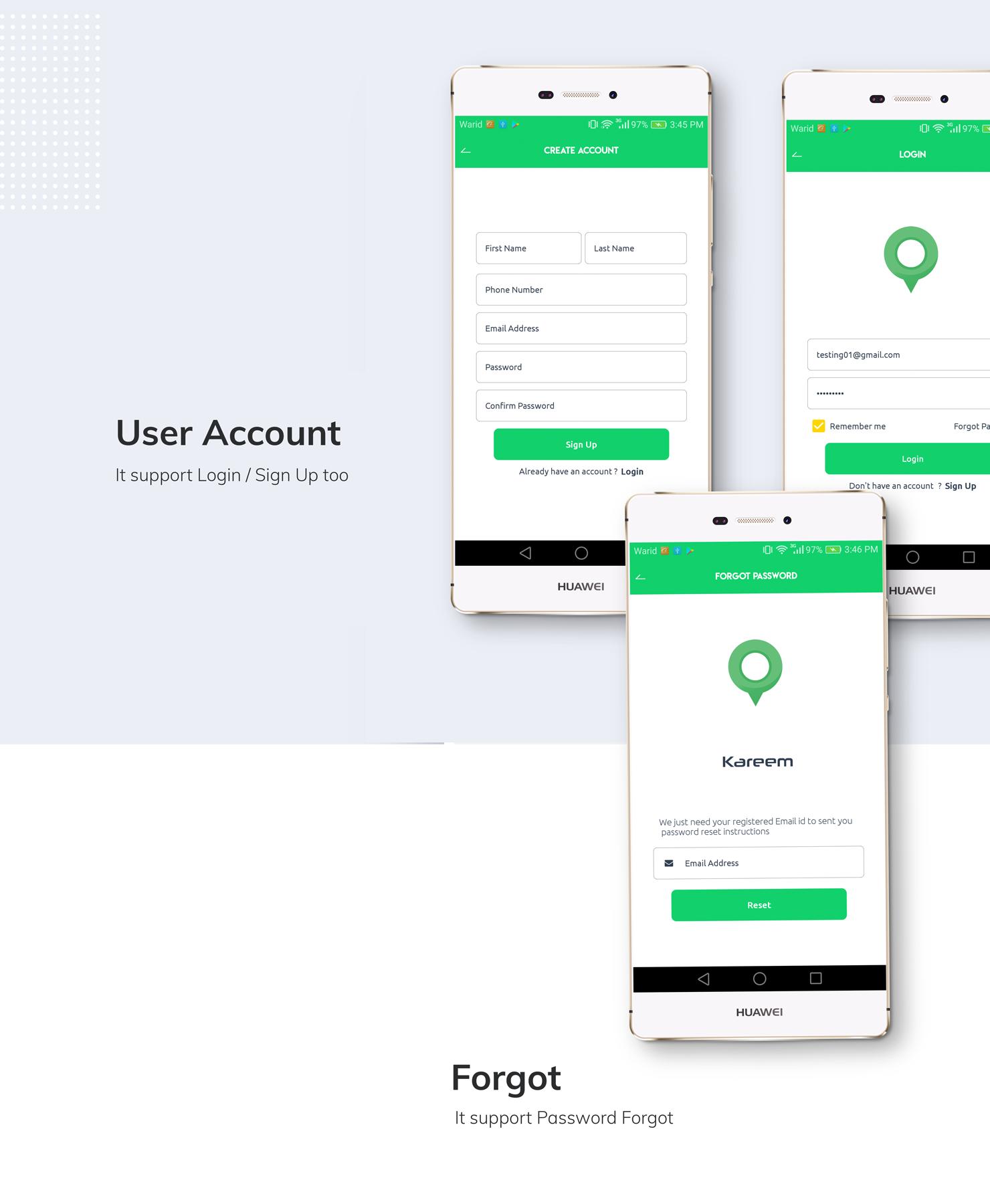 Kareem Taxi App - Cab Booking Solution + admin panel - 11