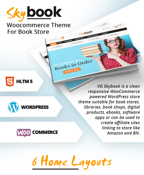 vg skybook woocommerce theme for book store by vinawebsolutions