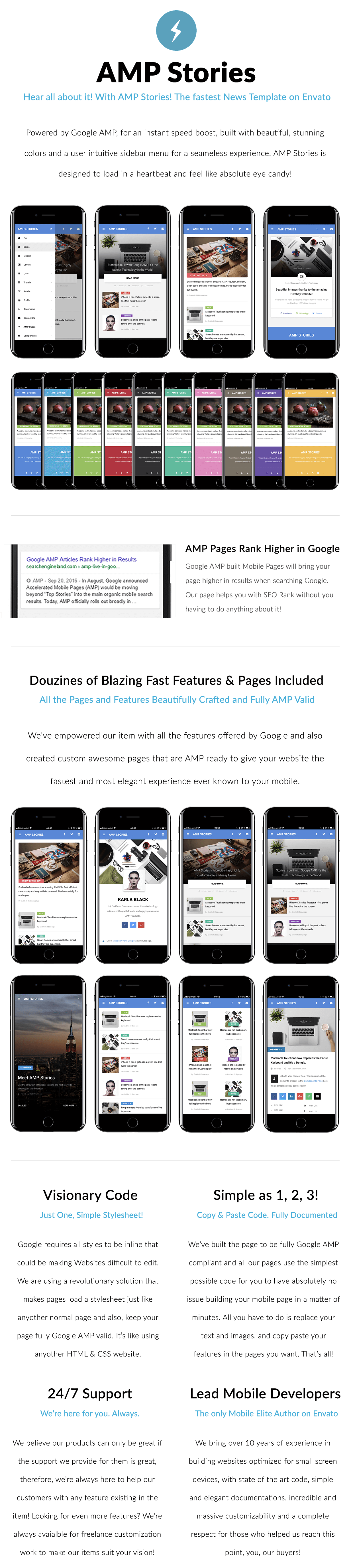 AMP Stories | Mobile Google AMP Template by Enabled | ThemeForest