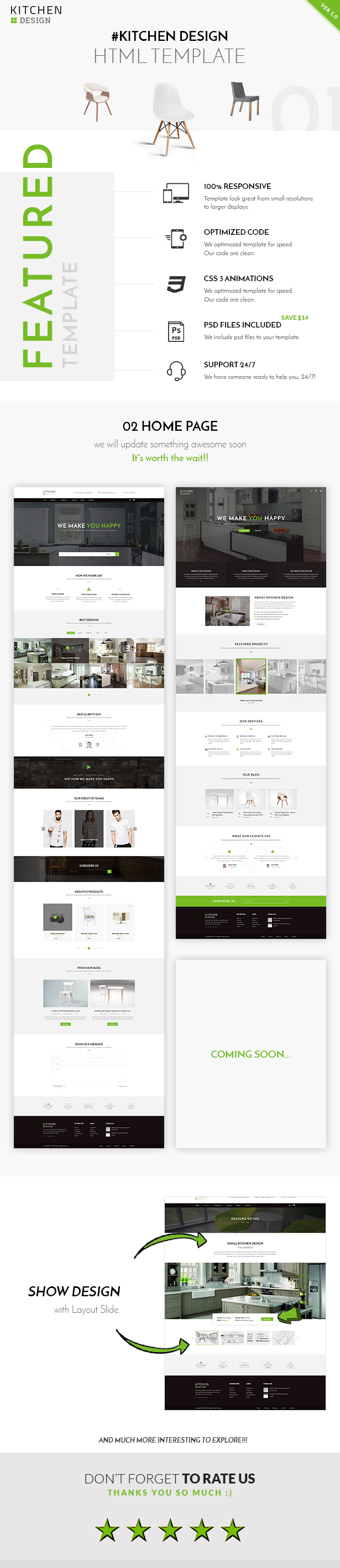kitchen html responsive template by qtcmedia themeforest