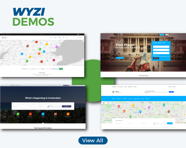 Wyzi - Business Finder and Service Provider Booking WordPress Social