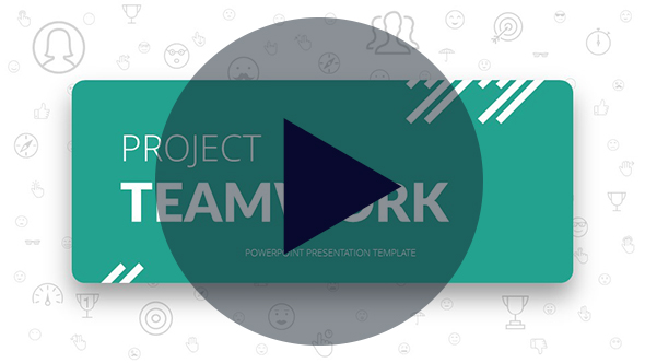 Project Teamwork PowerPoint Presentation Template - 1