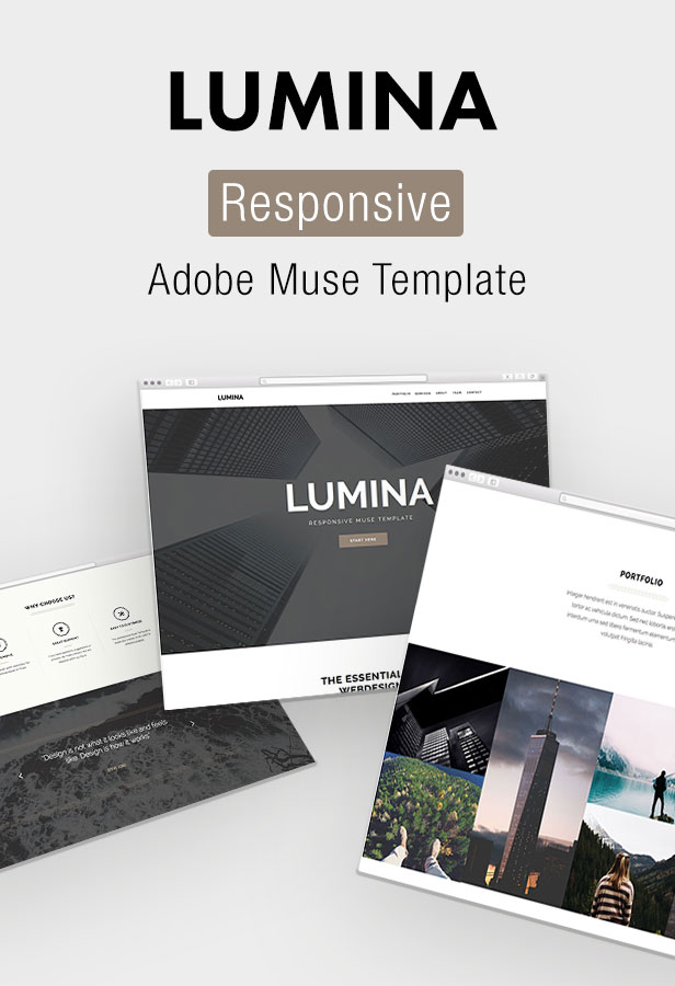 Lumina Responsive Muse Template For Creatives Agencies By Stylewish