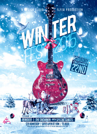 Design Cloud: Winter Festival Flyer Template
