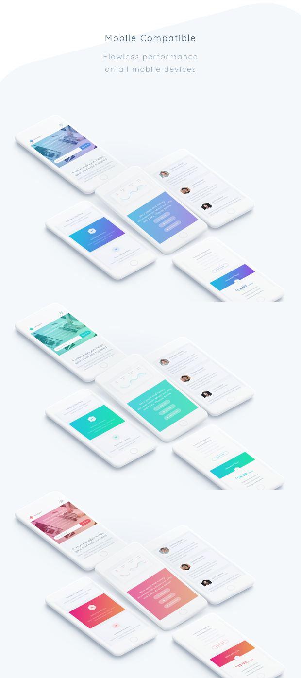 Hexagon - Agency, Startup and SaaS Template - 2