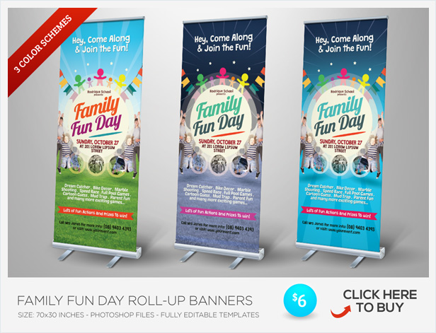 Family Fun Day Trifold Brochures By Kinzishots GraphicRiver - Fun brochure templates
