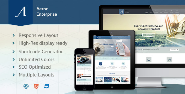 Aeron - Premium Responsive Corporate Theme