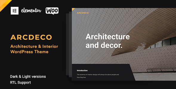 Arcdeco WordPress Theme