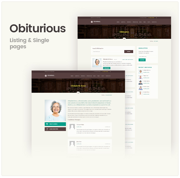 Funeral Service Responsive WordPress Theme
