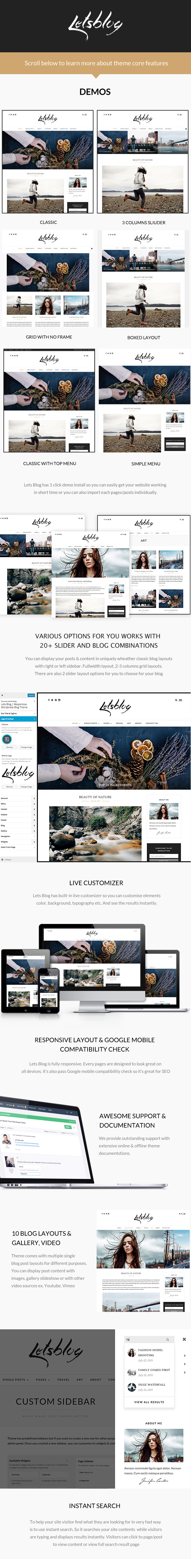 Lets Blog | Blog WordPress for Blog by ThemeGoods | ThemeForest