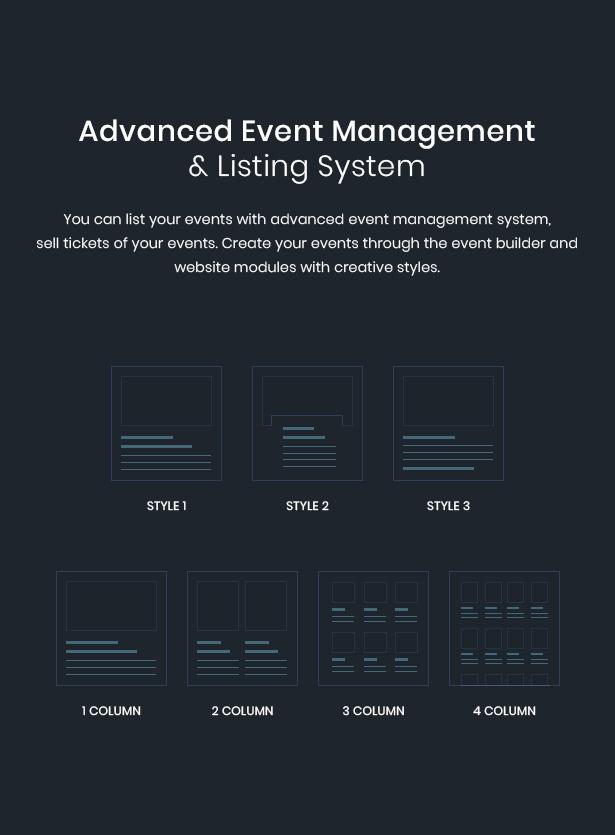 WordPress event listing theme