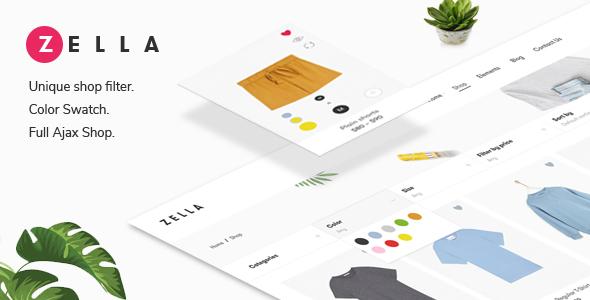 Zella - WooCommerce AJAX WordPress Theme - RTL support