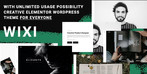 Wixi - Personal Portfolio WordPress Theme