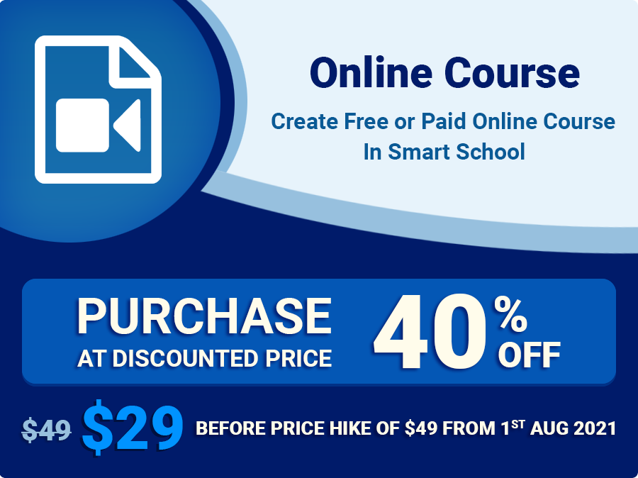 Smart School Online Course addon