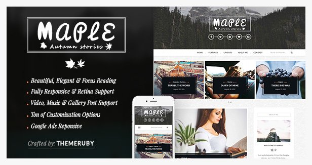 Maple WordPress Blog theme