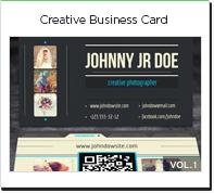 Creative photo business card