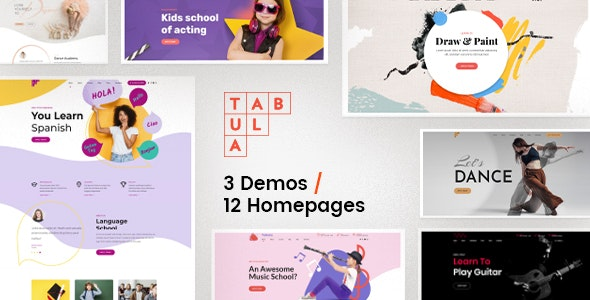 Tabula - Art, Music & Language School - Education WordPress