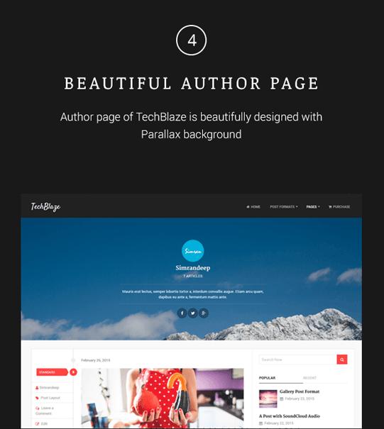 TechBlaze - Professional WordPress Blog Theme - 4
