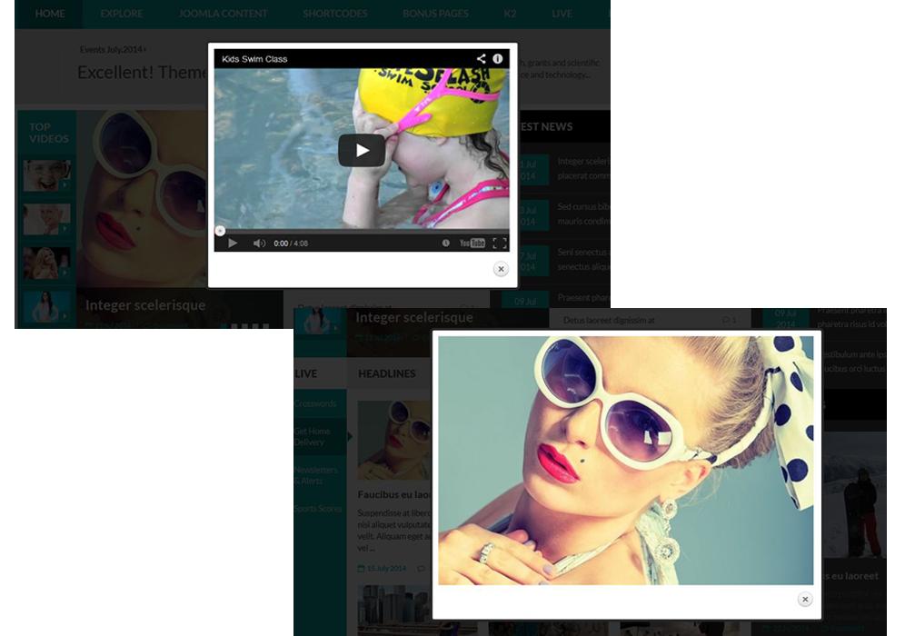 SJ Perty - Video & image pop-