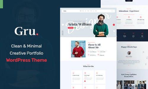 Gru - Personal Portfolio WordPress Theme