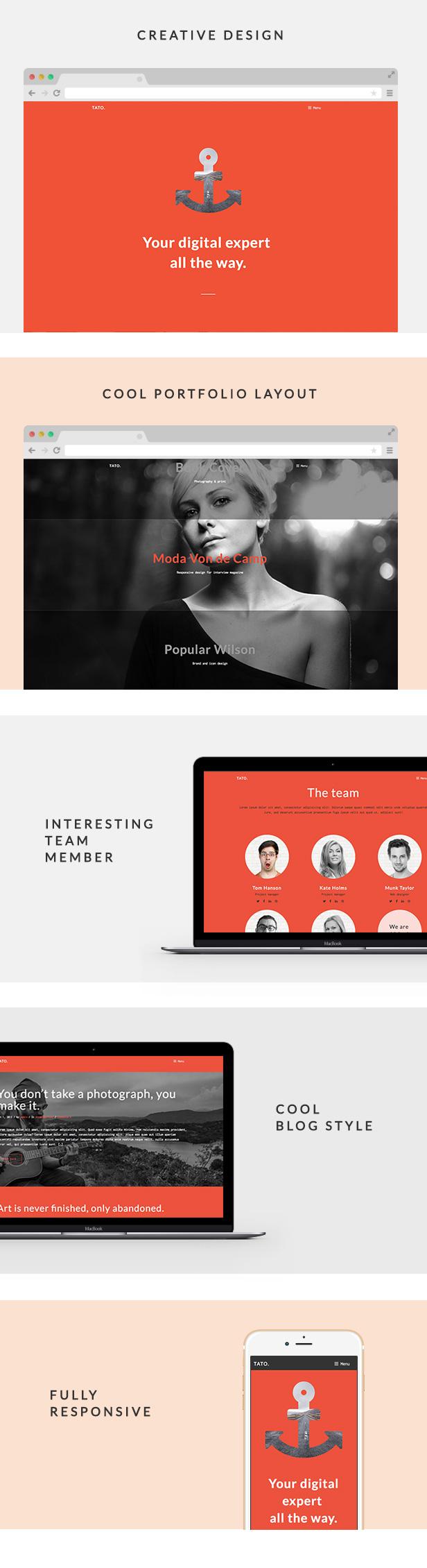 TATO - Portfolio & Agency WordPress Theme - 1