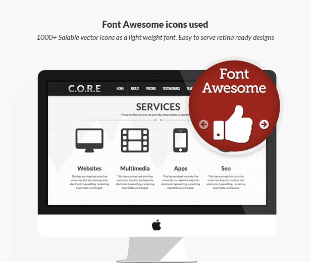Core One - Multipurpose One Page Theme - 19